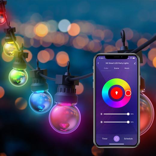 10 Bulb Smart RGB Indoor / Outdoor Party Lights